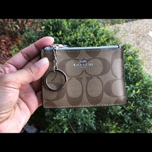 Coach skinny ID card case key holder mini wallet